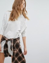 Pull&Bear Stripe T-Shirt Dress
