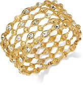INC International Concepts Gold-Tone Crystal Grid Stretch Bracelet