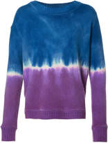 The Elder Statesman cashmere tie-dye effect jumper