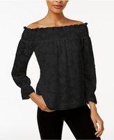 Bar III Textured Off-The-Shoulder Top, Created for Macy's