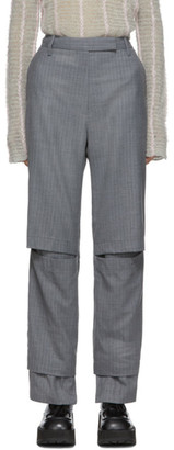Eckhaus Latta Grey Staggered Trousers