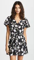 J.o.a. Black Floral Wrap Dress