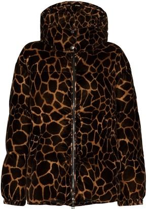 Moncler Kundogi leopard-print puffer jacket