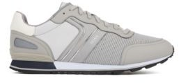 HUGO BOSS Running Inspired Trainers With Bamboo Charcoal Lining - Light Grey