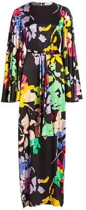 Caroline Constas Lilliana Printed Stretch Silk Maxi Dress
