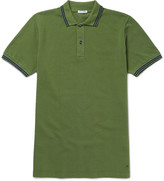 Tomas Maier - Slim-fit Contrast-tipped Cotton-piqué Polo Shirt