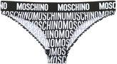 Moschino monochrome multi logo breifs - women - Polyester/Spandex/Elastane - 1