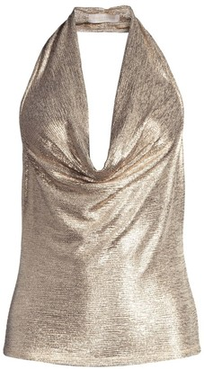 Ramy Brook Dee Textured Metallic Halter Top