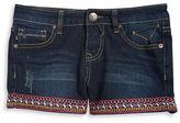 Vigoss Girls 7-16 Girls Embroidered Jean Shorts