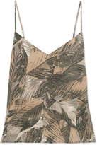 L'Agence Jane Printed Silk-satin Camisole