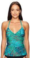 Jantzen Women's Palm Springs V-Neck Tankini Top