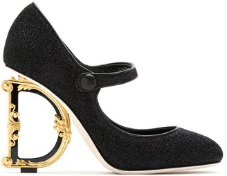 Dolce & Gabbana Mary Jane sculpted heel pumps