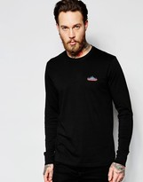 Penfield Long Sleeved T-Shirt with Mountain Logo In Black Exclusive
