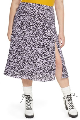 BP Front Slit Midi Skirt (Plus Size)