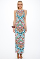 Mara Hoffman Astrodreamer Lattice Back Maxi Dress in Turquoise