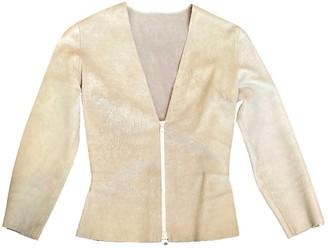 Jitrois Ecru Leather Jackets