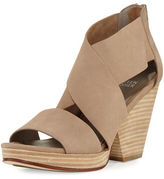 Eileen Fisher Ellis Platform Wide-Strap Sandal