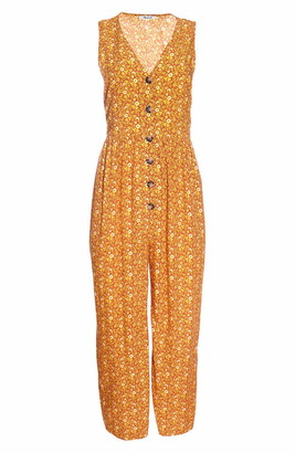 Madewell Americana Floral Button Front Jumpsuit