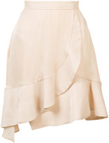 Carven flared hem mini skirt - women - Silk/Acetate/Cupro - S