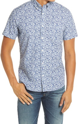 1901 Kiki Trim Fit Floral Short Sleeve Button-Down Shirt