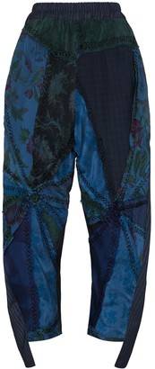 By Walid Sally floral-embroidered trousers