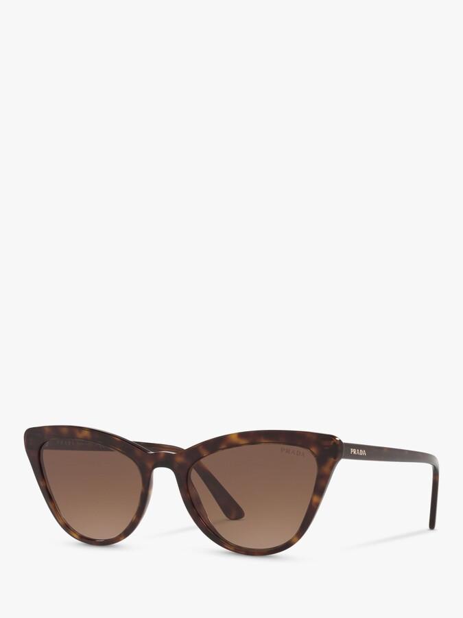 Prada PR 01VS Women's Catwalk Cat's Eye Sunglasses, Tortoise/Brown Gradient