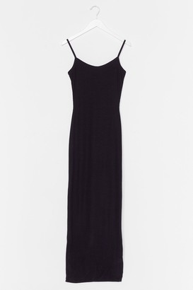 Nasty Gal Womens Love You Long Time Ribbed Maxi Dress - Black