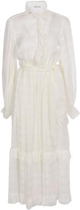 Etro Long Ruffled Neck Dress