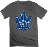 QUFGH Men's Toronto Maple Leafs Logo Cotton T Shirts DeepHeather