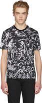 Versus Black Printed Drawing T-Shirt
