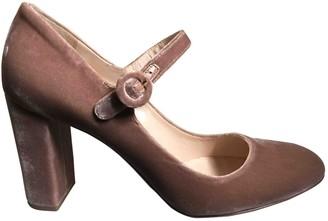 Prada Mary Jane Pink Velvet Heels