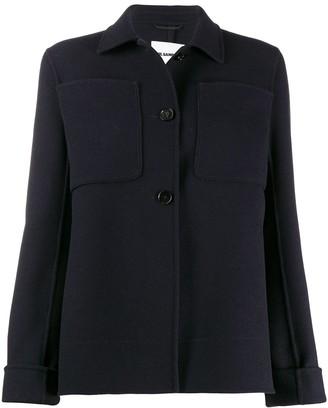 Jil Sander cashmere slim-fit buttoned jacket