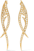 Stephen Webster Thorn 18-karat Gold Diamond Earrings - one size