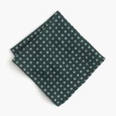 J.Crew English wool-silk pocket square in dot