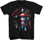 Novelty T-Shirts Marvel Short-Sleeve Iron Patriot Cotton Tee