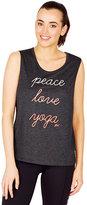 Betsey Johnson Peace Love Yoga Muscle Tank
