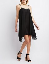 Charlotte Russe Lace Handkerchief Hem Dress