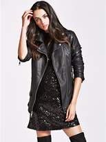 GUESS Cassidy Longline Moto Jacket