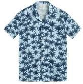 Mixed print cotton shirt