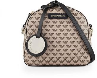 Emporio Armani Monogram Beige Crossbody Bag