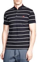 The Kooples Striped Slim Fit Pique Polo