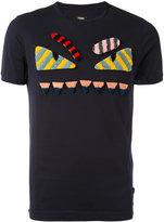 Fendi Bag Bugs T-shirt - men - Cotton/Lamb Fur - 52