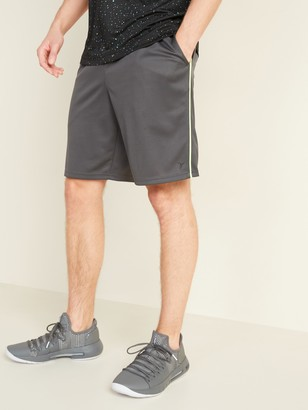 Old Navy Go-Dry Mesh Neon-Piping Performance Shorts for Men -- 9-inch inseam