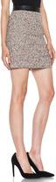 Proenza Schouler Tweed Skirt in Electric Coral