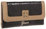 GUESS Reiko SLG Slim Clutch (Black) - Bags and Luggage