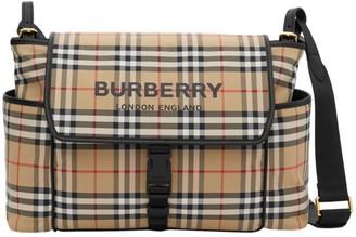 Burberry Vintage Check Flap Diaper Bag