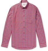 Acne Studios Isherwood Button-Down Collar Checked Cotton Shirt