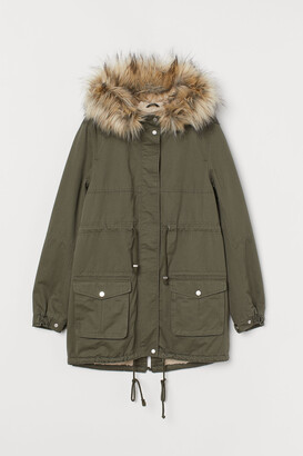 H&M MAMA Pile-lined parka