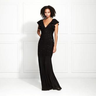 Rachel Zoe Marcella Eyelash Sequin Gown
