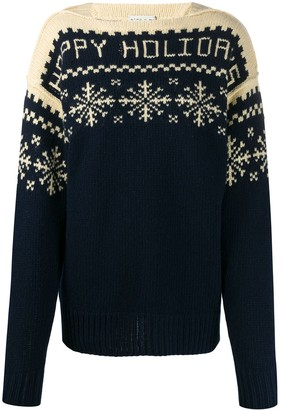 Etro Snowflake Patterned Knit Jumper